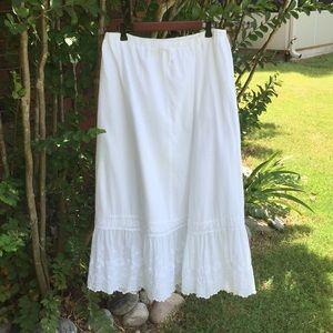 J.Jill Size Medium White Midi /  Maxi Skirt